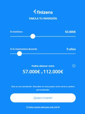 Invertir en Finizens