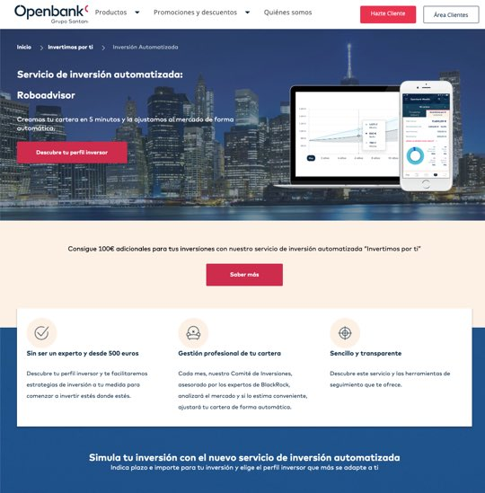 Robo advisor Openbank opiniones