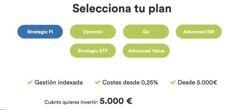 Planes para invertir en Inbestme