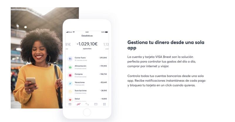 Tarjeta Bnext para viajar