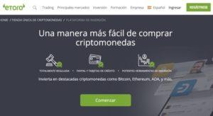 Comprar Bitcoin en eToro